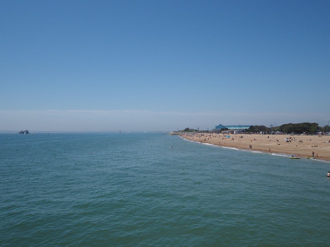 View of beach from South Parade Pier, Southsea